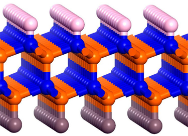 Illustration of the boron-nitride bilayer that is designed to generate hydrogen using sunlight