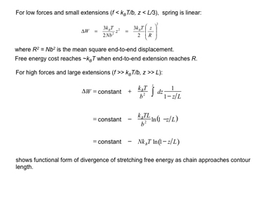 Slide 9Work done in stretching an FJC entropic spring