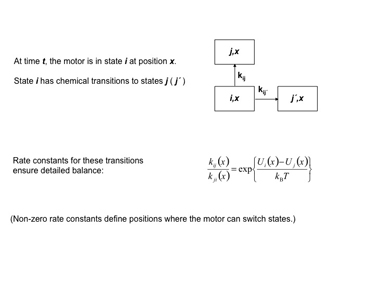 Slide 9	Parameters for a Monte Carlo simulation of chemical transitions.