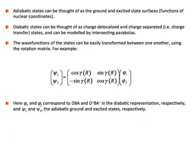 Slide 8	Transforming between diabatic and adiabatic states