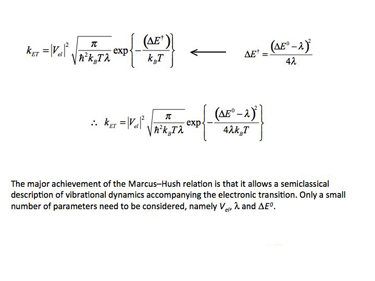 Slide 17 Marcus-Hush theory of ET: mathematical representation