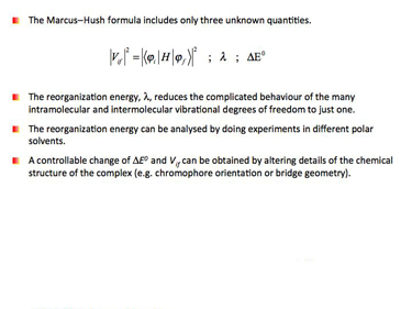Slide 18 Parameters of the Marcus-Hush equation