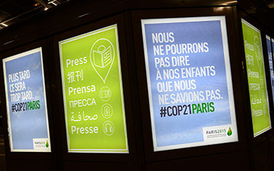 The Paris Climate Change Conference, November 2015. Image credit CC BY 2.0 UNFCCC