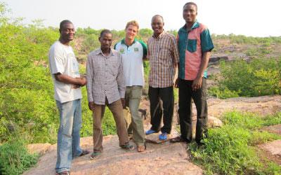 Field research team, La Tapoa, Niger. Image credit Daniel C Miller.
