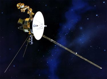 Artistic representation of the Voyager 1 spacecraft