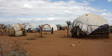 Refugee shelters in Somalia