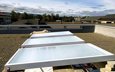 Cool running: rooftop cooling panels