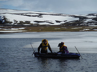 Sediment coring in Iceland
