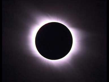 Photo of a total solar eclipse