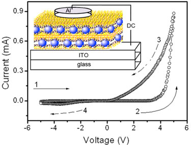 Composite device: lipid-nanoparticle film under test