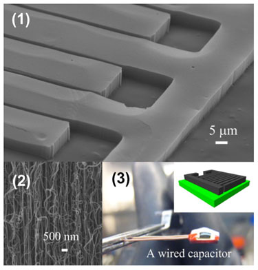 Ultracapacitor featuring vertically aligned carbon nanotubes