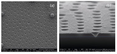 Porous membrane formed by nanosphere-mediated laser ablation