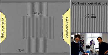 NbN nanowire chip