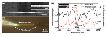 Single-nanowire plasmonic grating