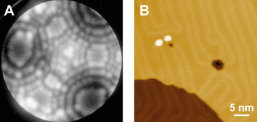 Field ion microscopy images