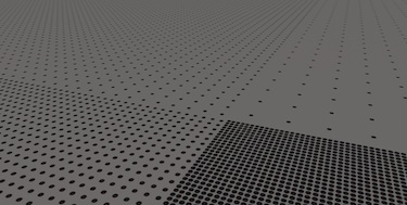 Quantum dots in pits