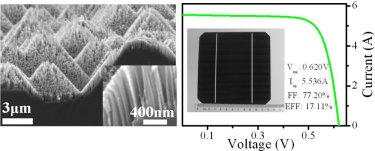 Nanowire-based large area solar cell