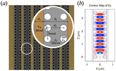 Long-range air-hole assisted subwavelength waveguide array
