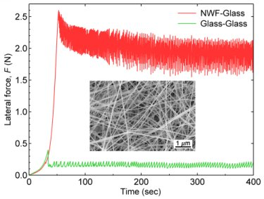 frictional behavior of SiC-SiO2 core-shell nanowires