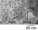 FePt particles in silica film