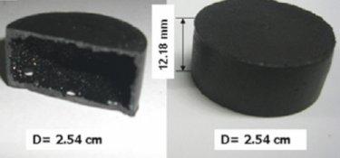A hollow nanocomposite cylinder