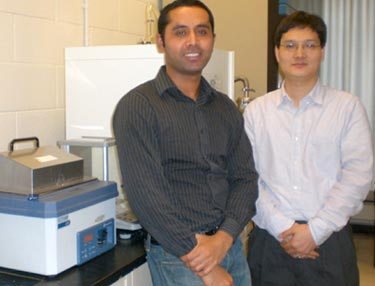 Paresh Shimpi and Pu-Xian Gao from the University of Connecticut