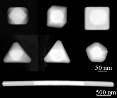 Shape-controlled nanostructures