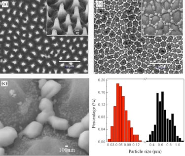 Active substrate: silver plating on silicon nanopillars