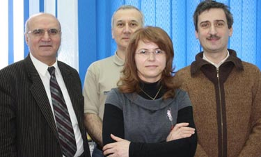 (from left to right) Prof. Stefan Antohe, Dr Lucian Ion, Elena Matei, Dr Ionut Enculescu