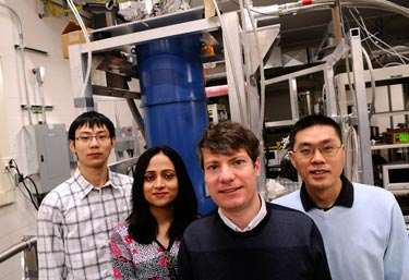 Team members from the Coherent Spintronics Lab at IQC