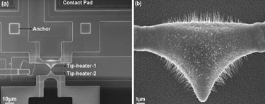 Localized CuO nanowire synthesis