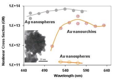 Nanourchins versus nanospheres