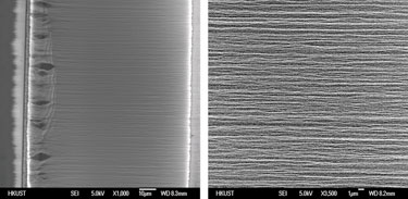 High-density horizontal carbon nanotube bundles
