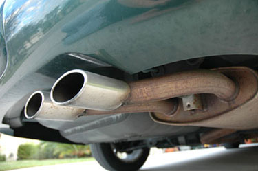 Photograph of a car exhaust