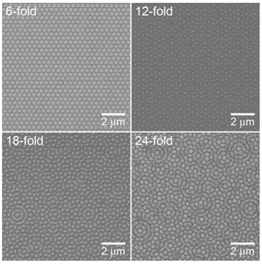 SEM images of a repeating array