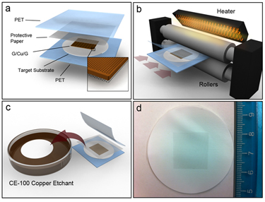 Directly transferring graphene onto flexible substrate