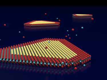 Growing a lateral heterostructure