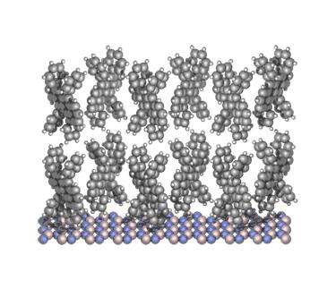 Growing organic/2D layered vdW heterostructures