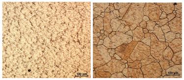 Bigger copper grain sizes improve heat conduction