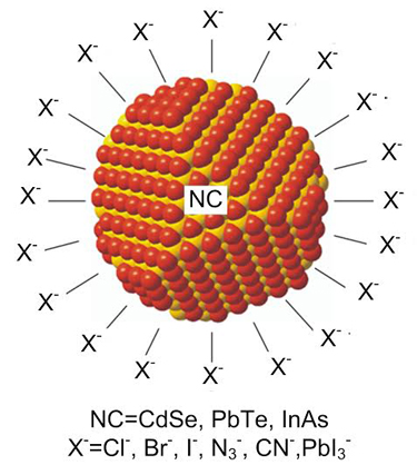 Nanocrystal with halide ligands
