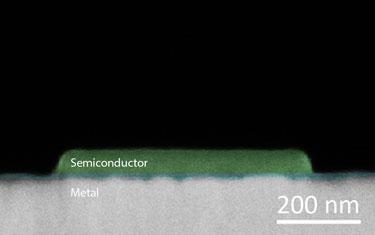 SEM of plasmon sensor