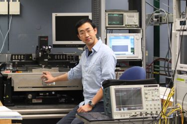 Qing Cao in his lab at IBM, US.