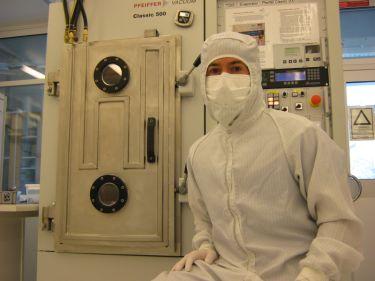 Lead author Adam Burke in the lab.