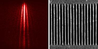 The interference pattern via single-layer graphene