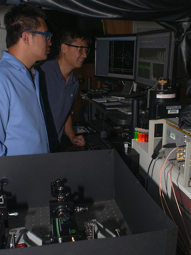In the single-particle spectroscopy lab