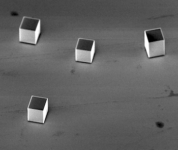 Microscopic silver cubes