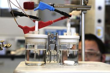 Water electrolysing device