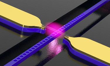 Illustration depicting the carbon-nanotube light source