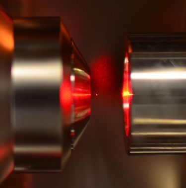 Heating up: a nanoparticle caught in Novotny's optical trap