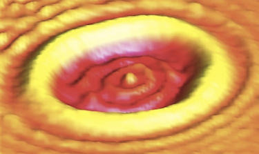 STM wavefunction imaging of a circular graphene p-n junction